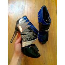 Zapatos Tacones Zigi Soho Dance Azules 24 100% Originales!!