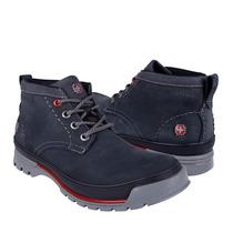 Swiss Brand Zapatos Caballero Botas 332 Nobuck Azul