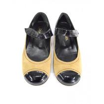 Zapatos Café Con Negro Chanel