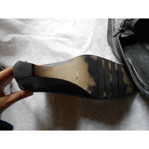 Zapatos Negros Tacon Corrido Numero 25****