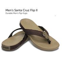 Santa Cruz Crocs Khaki/beige Sandalia Hombre Playa Mx 9/29