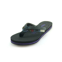 Sandalias Color Negro Con Correa Textil Para Mujer