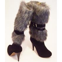 Botas Piel Calzado Dama Moda Actual Confort Elegancia