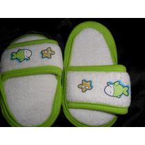 Hermosas Sandalias Tela Toalla Para Niña O Niño,