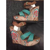 Zapatos Flexi Turquesa Núm 23 Nuevos En Caja