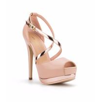 Zapatilla Pump Stiletto Ankle Strap Gala Rosa Graduacion !!