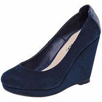 Zapatos Plataforma Capa De Ozono 345601-4 Marino Tacon10 Oi