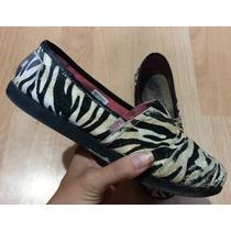 Padrisimos Zapatos Bobs By Skechers Zebra Tela Piel!!