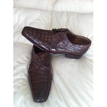 Zapato En Piel Cocodrilo Original $1799