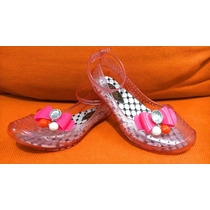 Lindos Zapatos Flats Plástico Con Pulsera Aylina No. 17 Niña