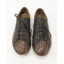 Zapatos Café De Piel Salvatore Ferragamo