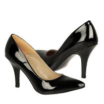 Stylo Zapatos Dama Tacones 690-1-1 Charol Negro