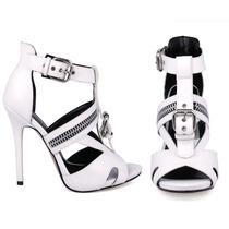 Zapatos Sandalias Blancas Andrea 2273426 Tacón 12.5cm