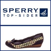 Sperry Zapatos Wedges Náuticos. T8 1/2. Traídos De Usa