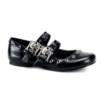 Zapatos Demonia Flats De Correas Con Craneos Daisy-03