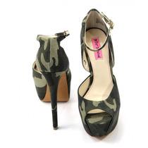 Zapatos Estampado Militar Betsey Johnson