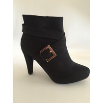 Zapato Botín Negro Marca Lady Paulina
