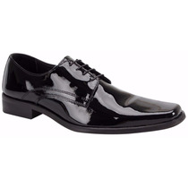 Zapato Vestir Formal Piel Charol Schatz 7601 Envio Gratis