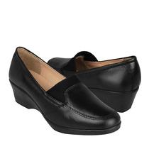 Stylo Zapatos Dama Cuñas 310 Simipiel Negro