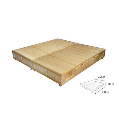 Bases cama king size madera base cama king size cajones for Medida cama king size mexico