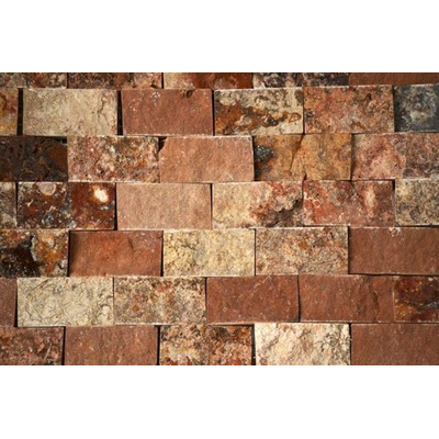 Mallas tapetes muro m rmol travertino rojo natural 30x30cm for Marmol travertino precio m2