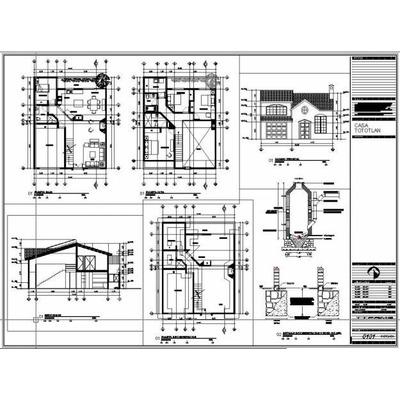 950 planos de casas en autocad profesionales y