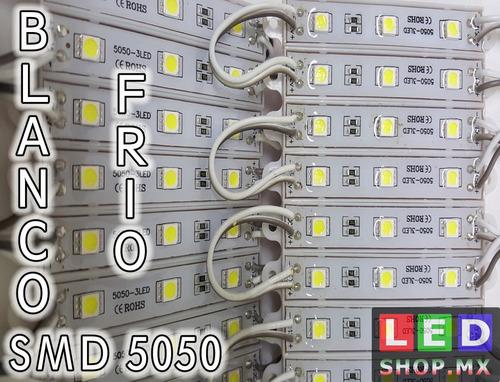 100 Modulos Led Smd 5050 Blanco Frio Ledshopmx