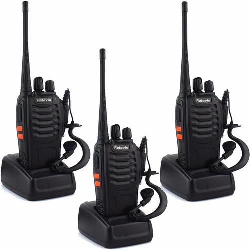 Radios Retevis H-777 Walkie Talkies Uhf Paquete De 3