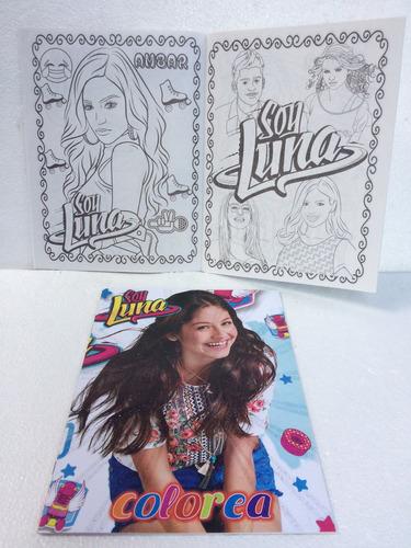 Libro Para Colorear Tamaño Carta 16 Páginas Fiesta Soy Luna