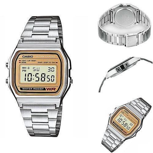 1507a5e890a8 Reloj Casio A158wea 9ef Retro Plateado Dorado en venta en ...