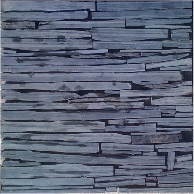 Negra mixteca piedra laja natural en malla de 30x30 a - Recubrimientos para fachadas ...