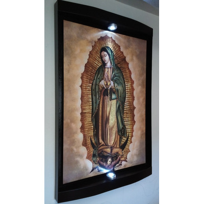 Cuadro virgen de guadalupe luces led inalambricas for Marco 120x80