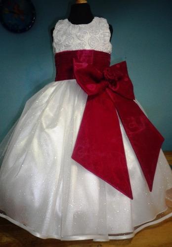 Vestido De Paje Pajecita Para Niña Tipo Tutu Color Vino