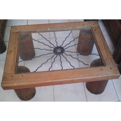Mesa rustica con hierro forjado c imagen de sol 3 249 for Mesas de hierro forjado y madera