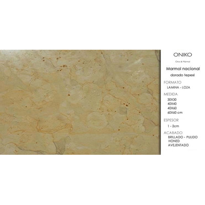 Piso loseta m rmol dorado tepexi oniko stone m rmoles - Precios de marmoles ...