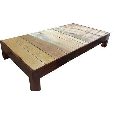 Base de madera para cama matrimonial 1199 chq2c precio for Una cama matrimonial