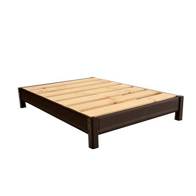 Base de cama tapizada king size armable de madera for Bases para cama king size df