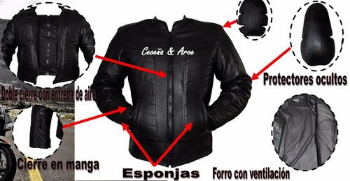 72fa8187022 ... comprar Chamarra Piel Profesional Motociclistas Protecciones Cs13 ...