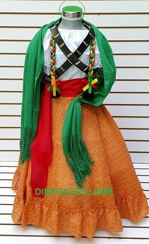 6763cd349 ... comprar Vestido Disfraz Adelita Falda Blusa Rebozo Adulto Mujer ...
