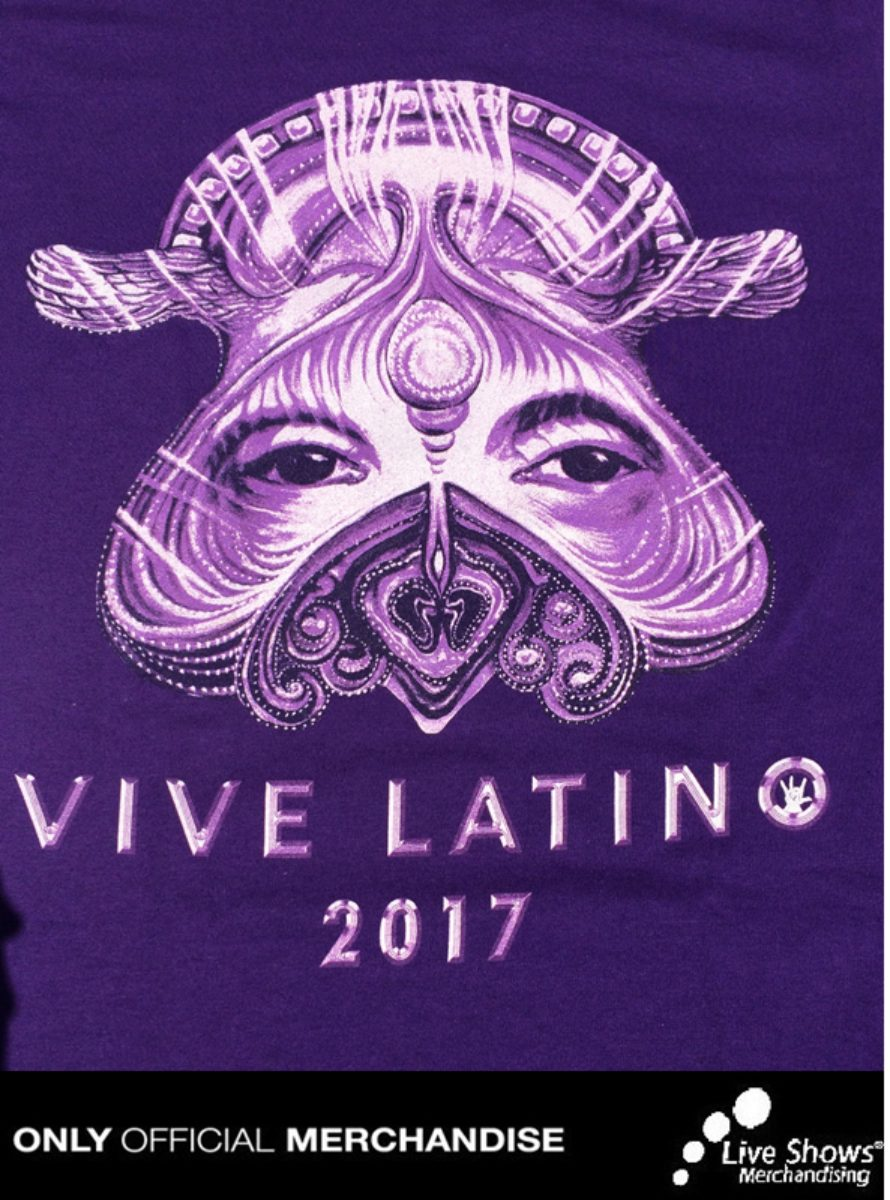 Playera Oficial Vive Latino 2017 Color Morado Dama