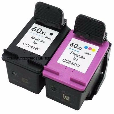Kit Cartucho Tinta 60xl Hp Deskjet 1660 4280 Photosmart