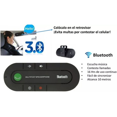 Kit receptor manos libres bluetooth 3 0 para auto te489 for Manos libres oficina