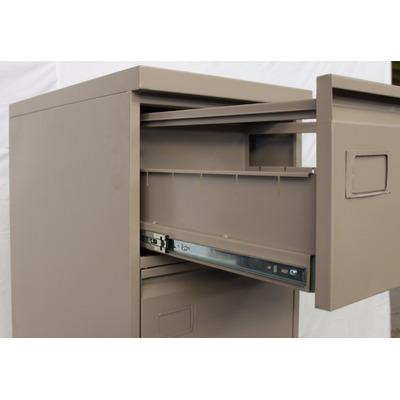 Archivero metalico 4 gavetas oficio documentos folder - Rieles para baldas extraibles ...