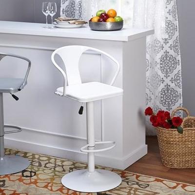 Banco para cocina barra giratorios blanco 3 en for Banco rinconera cocina blanco