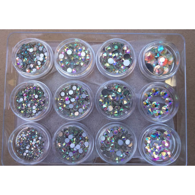 Piedras cristal tornasol 8 tama os para decoracion de u as for Unas con piedras swarovski