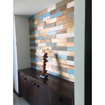 Recubrimiento muro de madera maciza pared pallet palet en - Muro de madera ...