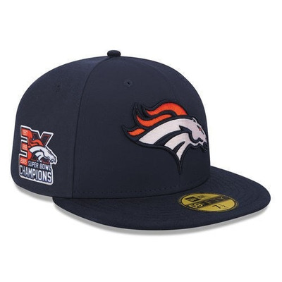 Nfl Denver Broncos Gorra Conmemorativa 3 Campeonatos New