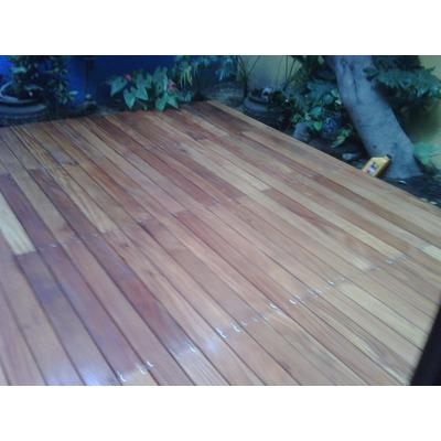 Deck de teca piso de madera para exterior en - Madera teca exteriores ...