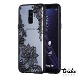 Funda Flor Loto Mandala Negro Galaxy A6 Plus 2018 / J8 2018