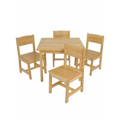 Juego mesa con 4 sillas mesita infantil kidkraft madera - Mesita con sillas infantiles ...